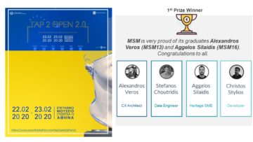 "MSM is proud to celebrate the 🏆 1st Prize Winner of ""TAP 2 Open Bootcamp"" organized by the Fund of Archaelogical Proceeeds and Crowdpolicy under the auspices of the Hellenic Ministry of Culture and Sports."